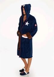 Captain America - Captain America Hooded Fleece Bathrobe