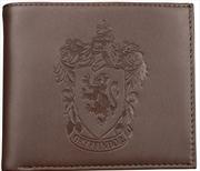Harry Potter - Gryffindor Logo Embossed Brown Wallet   Apparel