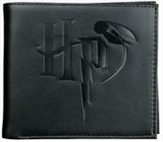 Harry Potter - Logo Embossed Black Wallet   Apparel