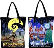 The Nightmare Before Christmas - Halloween Town / Christmas Town Tote Bag