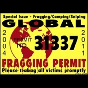 J!nx - Fragging Permit Sticker