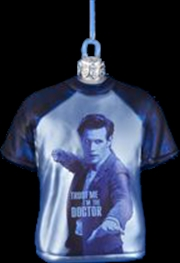 """Doctor Who - T-Shirt Shape 3.5"""" Glass Xmas Ornament 
