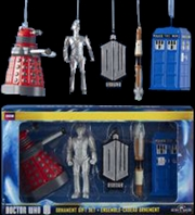 "Doctor Who - 2.5"" Christmas Ornament 5-Pack Gift Box"