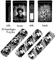 Twilight - Bandages/Bandaids in Tin Container - Distressed B&W