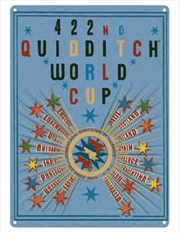 Harry Potter - Quidditch World Cup A3 Tin Sign