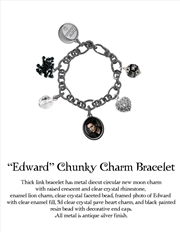 The Twilight Saga: New Moon - Jewellery Chunky Charm Bracelet Edward | Apparel