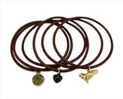 The Twilight Saga: New Moon - Jewellery Jelly Bangle with Charms Wolf | Apparel