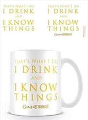Game Of Thrones - Drink And Know Things | Merchandise