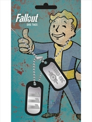 Fallout 4 Vault Tec Dog Tags | Merchandise