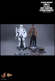 "Star Wars - Finn & Riot Control Stormtrooper EpVII Force Awakens 12"" 1:6 Scale Action Figure Set | Merchandise"