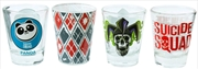 Suicide Squad - Logos Shot Glass Set of 4 | Merchandise