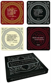 Game of Thrones - Quotes Coaster Set | Merchandise