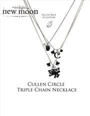 The Twilight Saga: New Moon - Jewellery Necklace Triple Chain Cullen Circle | Apparel