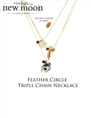 The Twilight Saga: New Moon - Jewellery Necklace Triple Chain Feather Circle   Apparel