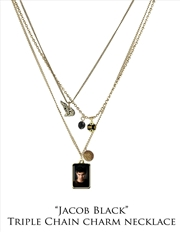 The Twilight Saga: New Moon - Jewellery Charm Triple Chain Necklace Jacob   Apparel