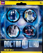 Doctor Who - Eleventh Doctor Pinset of 4 | Merchandise