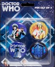 Doctor Who - Retro Pinset of 4 | Merchandise