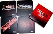 True Blood - Coaster Set of 4 Black (Series 2)