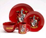 Harry Potter - Gryffindor 4 Piece Ceramic Dinner Set | Homewares