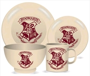 Harry Potter - Hogwarts Crest 4 Piece Ceramic Dinner Set