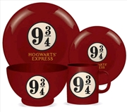 Harry Potter - Platform 9 3/4 4 Piece Ceramic Dinner Set