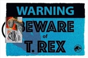 Jurassic World - Beware T.Rex Doormat | Merchandise