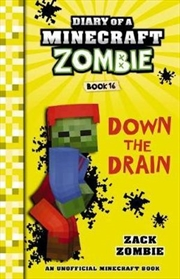 Diary of a Minecraft Zombie #16: Down the Drain | Paperback Book