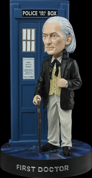 Doctor Who - First Doctor with TARDIS Bobble Head | Merchandise
