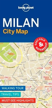 Lonely Planet Travel Guide - Milan City Map | Sheet Map