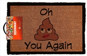 Emoji Oh S*** You Again Doormat | Merchandise