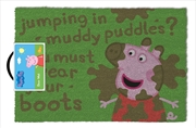 Peppa Pig Muddy Puddle Doormat