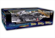 Back to the Future - 1:24 Trilogy Gift DeLorean Replica Set | Collectable