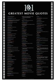 101 Great Movie Quote Poster | Merchandise