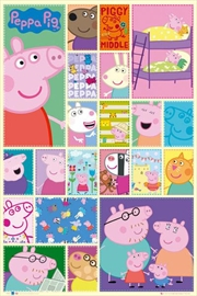 Peppa Pig Grid Poster