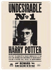 Harry Potter - Undesirable No 1 Small Tin Sign
