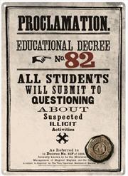 Harry Potter - Tin Sign Small Decree 82