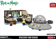 Rick and Morty - Spaceship and Garage Large Construction Set | Collectable