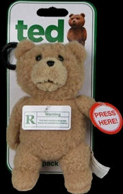 Ted - Backpack Clip with Sound