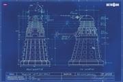 Dalek Blue Print Poster