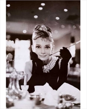 Audrey Hepburn - Bat B&W Vertical