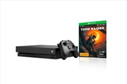 Xbox One Console X with Shadow of the Tomb Raider