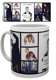 Justin Bieber Grid Mug