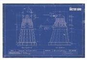 Doctor Who - Dalek Blue Print 60X80