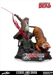 The Walking Dead - Ezekiel & Shiva Resin Statue | Merchandise