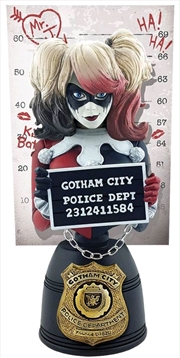 Batman - Harley Quinn Mugshot Bust (Red & Black)