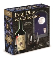 """Foul Play & Cabernet Classic Mystery Jigsaw Puzzle 8 x 8""""   Merchandise"""