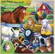 Farm Friends Wood Fun Facts Puzzle 48pc