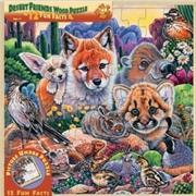 Desert Friends Wood Fun Facts Puzzle 48pc