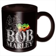 Bob Marley Distressed Logo Mug | Merchandise