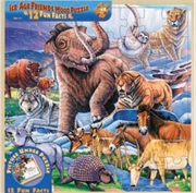 Masterpieces Puzzle Wood Fun Facts Ice Age Friends Puzzle 48 pieces   Merchandise